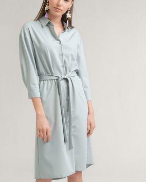 Платье рубашка - зеленое Emka