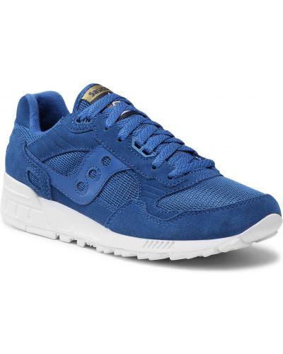 Niebieskie buty sportowe zamszowe Saucony
