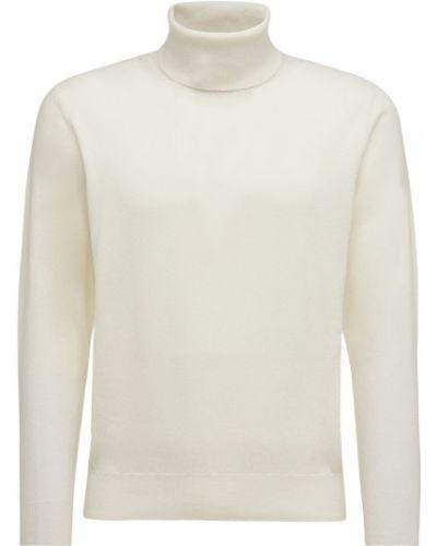 Biały z kaszmiru sweter Piacenza Cashmere
