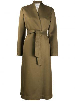 Шерстяное вязаное длинное пальто двубортное Forte Forte
