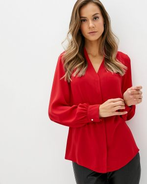 Блузка с длинным рукавом турецкий красная Adl