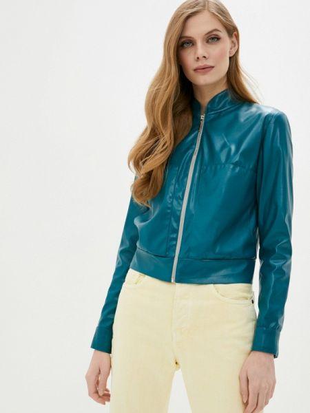 Кожаная облегченная бирюзовая кожаная куртка Sugarlife