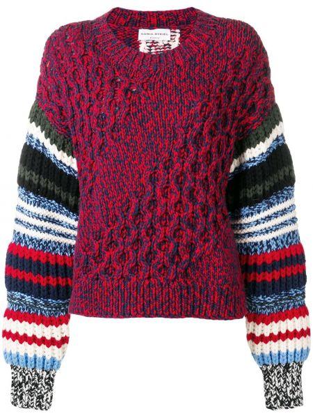 Длинный свитер крупной вязки в рубчик Sonia Rykiel