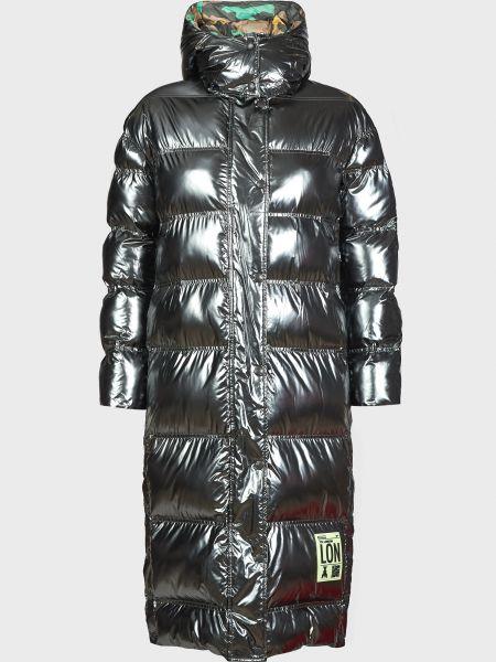 Серебряная куртка двусторонняя на кнопках Patrizia Pepe