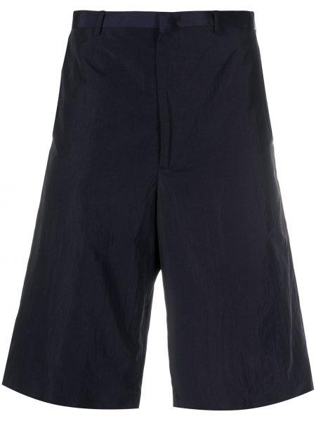 Синие прямые шорты на молнии с карманами Paul Smith