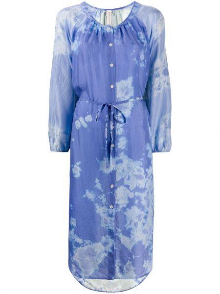 Платье миди на пуговицах с абстрактным принтом Raquel Allegra