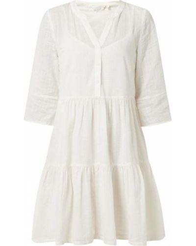 Sukienka rozkloszowana - biała Tom Tailor Denim