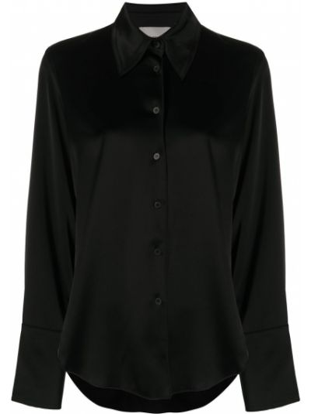 Длинная рубашка - черная Nanushka