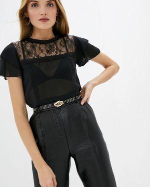 Блузка с коротким рукавом черная Liu Jo