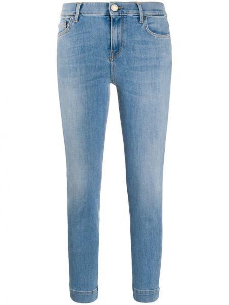 Розовые джинсы-скинни на пуговицах с пайетками Pinko