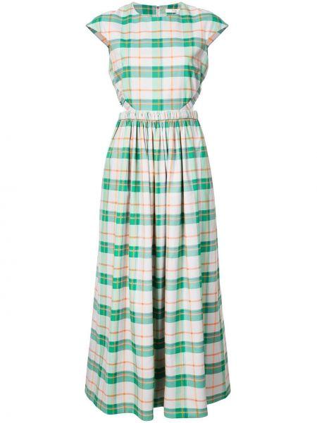 Bawełna z rękawami zielony sukienka mini Tibi