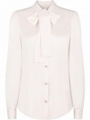Белая блузка длинная Dolce & Gabbana