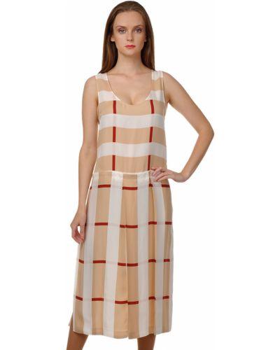 Платье из вискозы - бежевое Sonia Rykiel