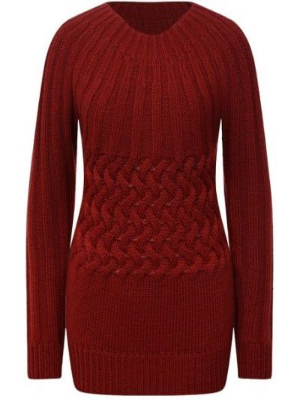 Шерстяной свитер - красный Moorer