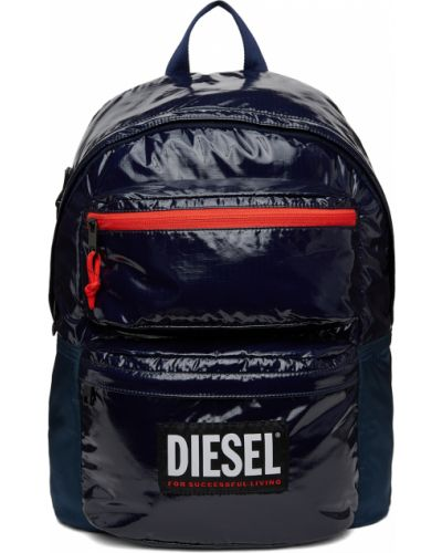 Черный рюкзак с карманами Diesel