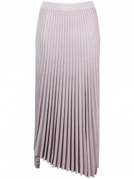Fioletowa spódnica maxi asymetryczna z wiskozy Mrz