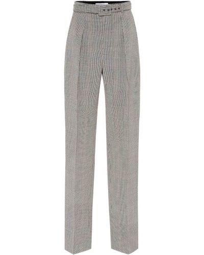 Wełniany beżowy spodnie pled Givenchy