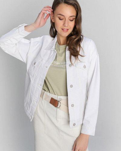 Белая джинсовая куртка O'stin