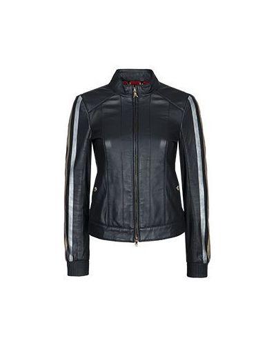 Черная кожаная куртка Patrizia Pepe