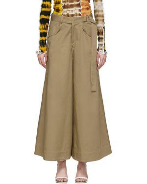 Брючные брюки карго с поясом хаки свободного кроя Asai