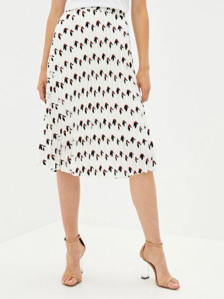 Плиссированная белая плиссированная юбка Shelter