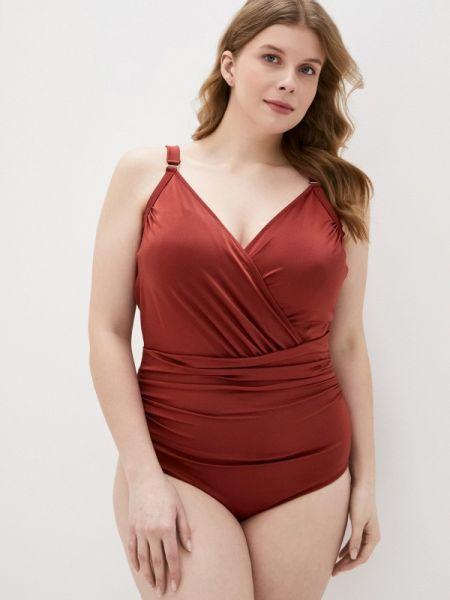 Красный плюшевый слитный купальник Zizzi