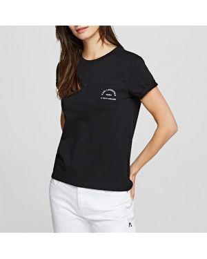 Футбольная черная футболка Karl Lagerfeld