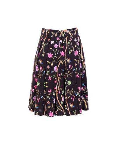 Хлопковая юбка миди - черная Class Cavalli