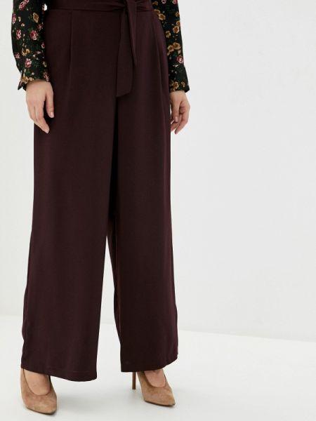 Свободные брюки бордовый расклешенные Evans
