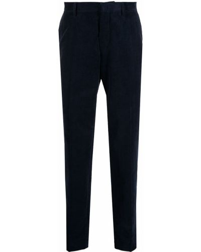 Синие брюки вельветовые с карманами Tiger Of Sweden