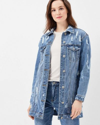 Джинсовая куртка весенняя синий Miss Bon Bon