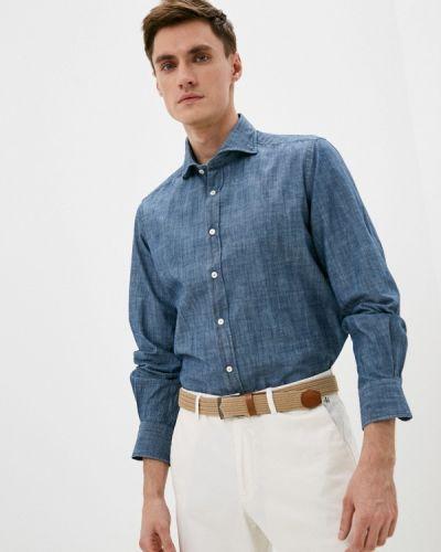 Рубашка с длинным рукавом - синяя Windsor
