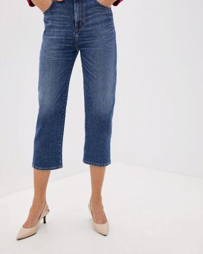 Широкие джинсы расклешенные синие Weekend Max Mara