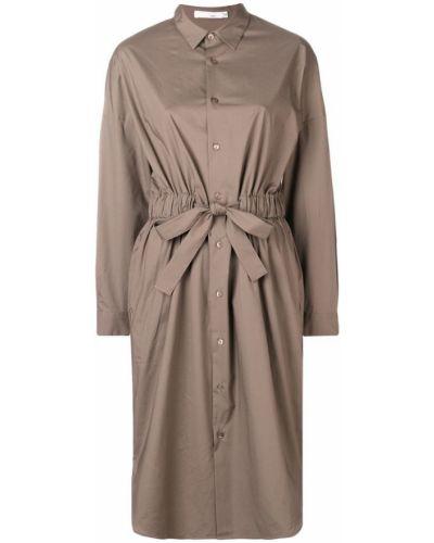 Классическое платье макси с манжетами с воротником Knott