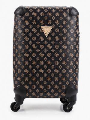 Коричневый зимний чемодан Guess