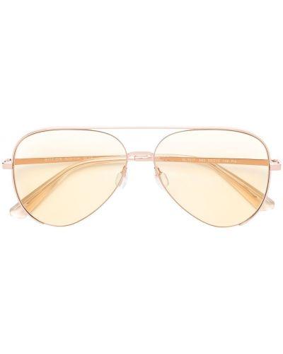 Розовые солнцезащитные очки металлические Bolon