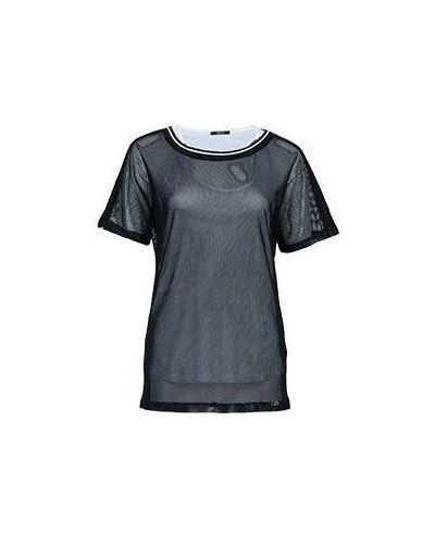 Черная футболка хлопковая Liu Jo