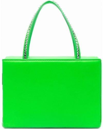 Кожаная сумка - зеленая Amina Muaddi