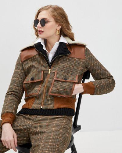 Утепленная коричневая куртка Paul & Joe