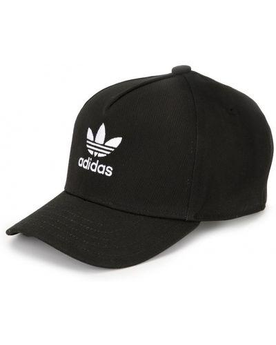 Хлопковая черная бейсболка с вышивкой Adidas Kids
