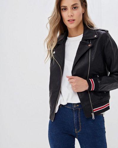 Кожаная куртка - черная Jennyfer