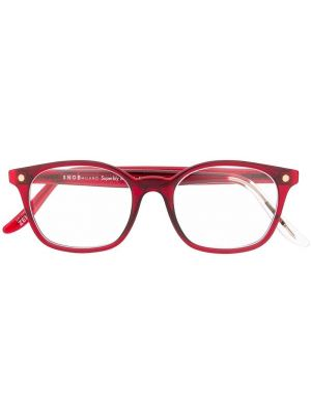 Złote okulary khaki Snob