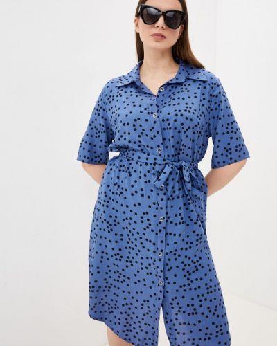 Синее платье рубашка Winzor