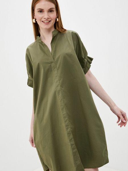 Прямое платье - хаки Tantra