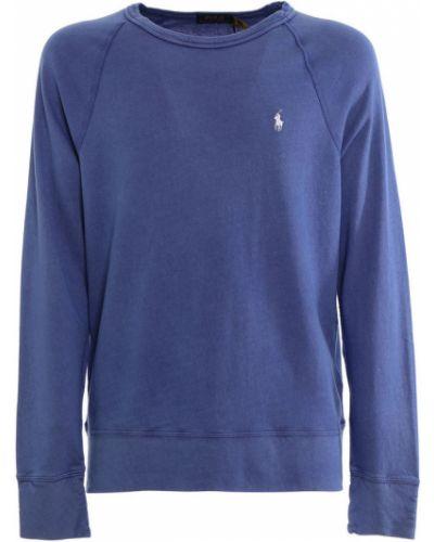 Niebieska bluza z kapturem z długimi rękawami Ralph Lauren