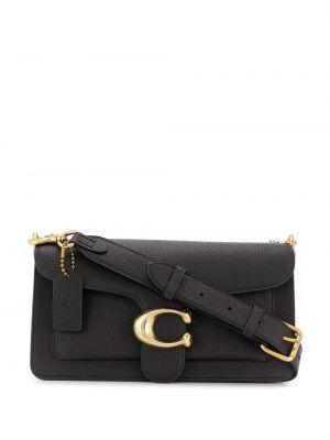 Кожаная сумка через плечо - черная Coach
