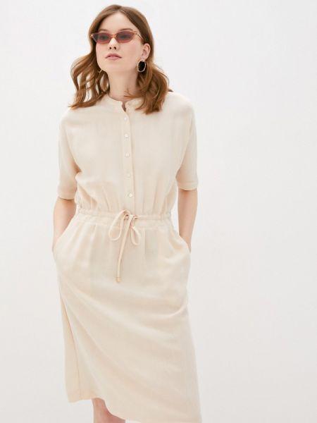 Повседневное платье бежевое весеннее Vilatte