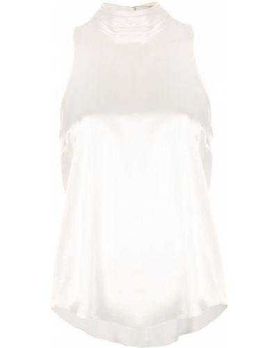 Блузка без рукавов белая на пуговицах Cinq A Sept