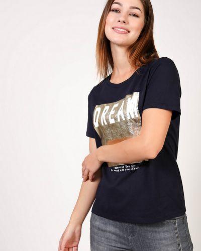 Хлопковая синяя футболка S.oliver