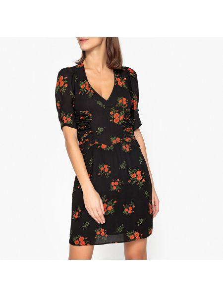 Платье миди на запах - черное Soeur